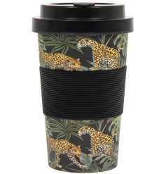 this Black, Gold and Green themed travel mug will be sure to add a Wild side to your lunch!