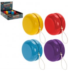 Retro Wooden Yoyo - choose between Red, Yellow, Blue and Purple options