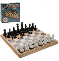 The Retro Chess Set is made from traditional hardwearing materials and is ideal for the whole family.