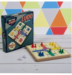The Retro Ludo Set is a great choice for family games nights, with bright colours and robust construction.