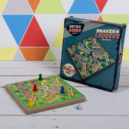Retro Snakes & Ladders Set
