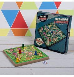 The Retro Games Snakes & Ladders set is a wonderful vintage edition of a traditional family favourite.