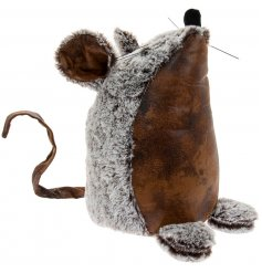 Sure to fit in with any Country Charm themed interior, this little faux leather mouse doorstop is a must have