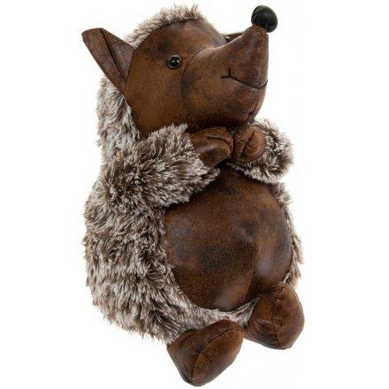 33 cm Hedgehog Faux Leather Doorstop
