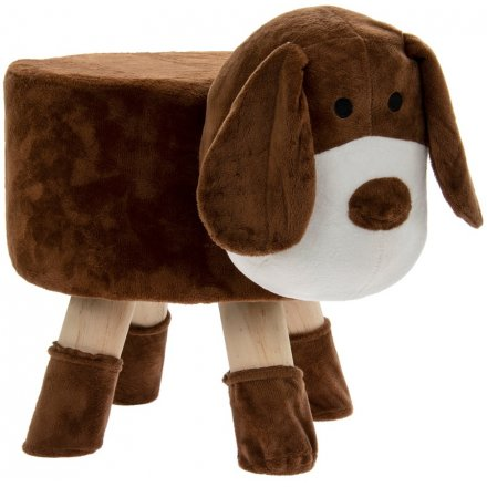 48 cm Brown Dog Stool