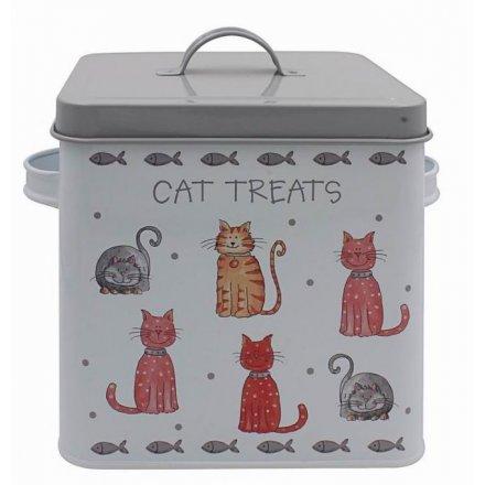Cat Treats Faithful Friends Tin