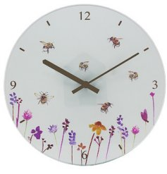 Part of the Busy Bee range, this decorated clock will be sure to bring a hint of spring to any wall