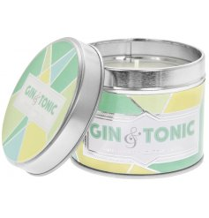 A small metal tin featuring a quirky yellow and green patterned decal filled with a refreshingly crisp wax