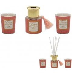 Desire Diffuser and Candle Set - Pomegranate