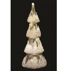 , this gorgeous tree ornament also features a mercury splash effect and sequin decal to finish