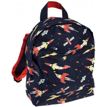 Rocket Ship Childrens Backpack