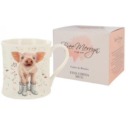 Bree Merryn Penelope the Piglet Cuties In Booties Mug 9 cm