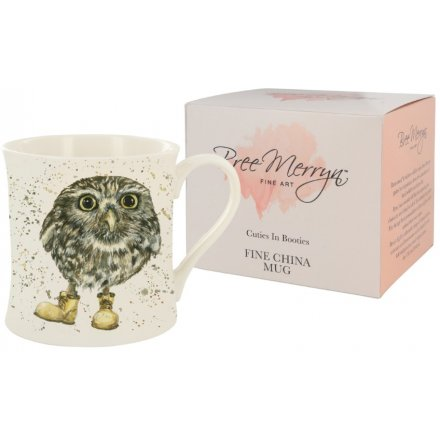 Bree Merryn  Oakley the Little Owl Cuties In Booties Mug 9 cm