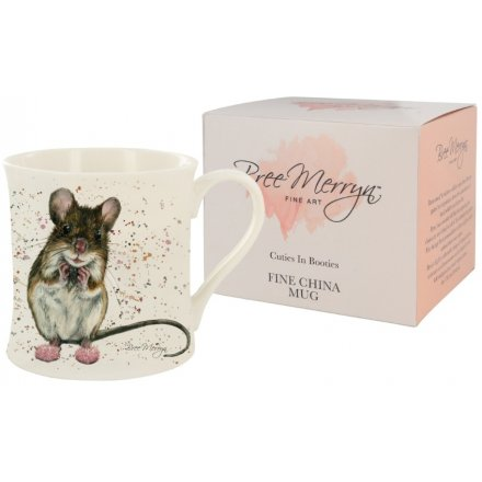 9 cm Cuties In Booties Mimi the Mouse Mug Bree Merryn