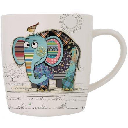 9 cm Bug Art Eric Elephant China Mug Kooks