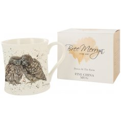 Designed by Bree Merryn, the Posh & Pecks the Little Owls mug is part of the Down At The Farm range of giftware