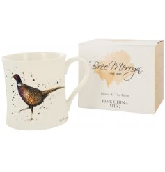 Designed by Bree Merryn, the Phil the Pheasant fine china mug is part of the Down At The Farm range of giftware