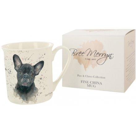 Bree Merryn Fifi the French Bulldog Paws & Claws Mug 9 cm
