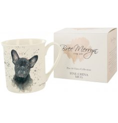 Paws & Claws giftware, designed by Yorkshire artist Bree Merryn, includes this Fifi the French Bulldog mug