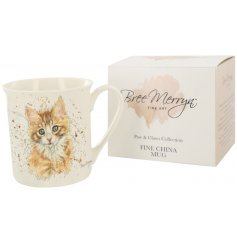 The Nutmeg the Ginger Kitten mug is part of the Paws & Claws range of giftware, designed by Yorkshire artist Bree Merryn