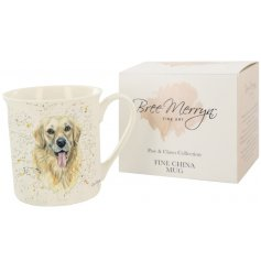 Paws & Claws giftware, designed by Yorkshire artist Bree Merryn, includes this Gwenn the Golden Retriever mug