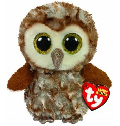 With his adorable wide yellow glittery eyes, this Percy the Owl soft toy is part of the TY Beanie Boo Range