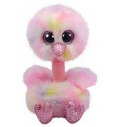 Covered with fluffy pink fur features and added pink glittery touches,