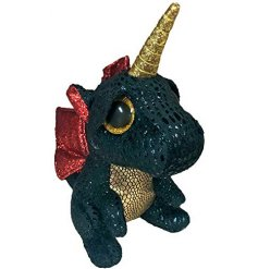 Meet Grindal, a wide eyed dragon Beanie Boo with an additional enchanted Unicorn horn