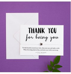 Thank You For Being You, part of the 'Little Wishes' jewellery range.