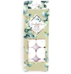 Eucalyptus scented Tealights - pack of 10