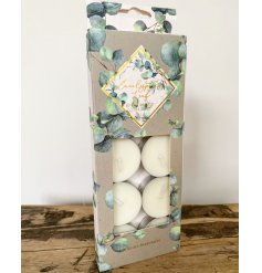 Tealights with Eucalyptus scent - pack of 10