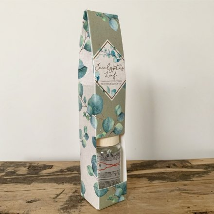 Classic 30 ml reed diffuser with Eucalyptus print gift box