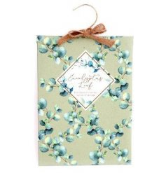 Eucalyptus scented fragrance sachet to hang in airing cupboard or wardrobe