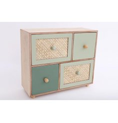 4 drawer chest of drawers from Eucalyptus range of homewares