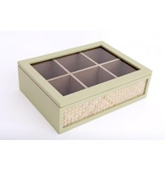 Display and access your tea collection with this attractive practical box
