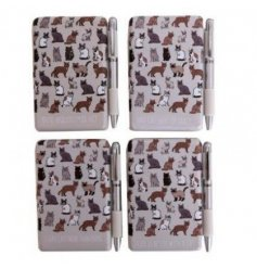 From the Cat Pattern giftware range, this attractive notebook & pen gift set is approx 10 x 9.5 cm
