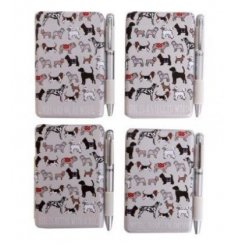 Notebook & Pen gift set from the Dog Print giftware range. Measures approx 9.5 x 10 cm