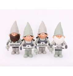 Novelty polyresin gnomes from the Love Grows Here range, measures approx 15 cm