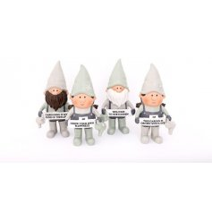 Novelty polyresin gnomes from the Potting Shed range, measures approx 20.5 cm tall