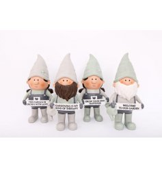 Novelty polyresin gnomes from the Love Grows Here range, measures approx 25.5 cm tall