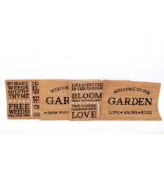 Selection of novelty door mats from the Love Grows Here collection, all with gardening messages