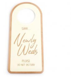A chic wedding door plaque with a Do Not Disturb slogan. A great gift item for the happy couple!