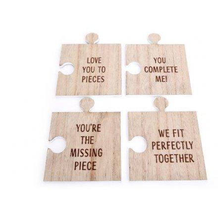 Puzzle Piece 12.5 cm Coaster Set