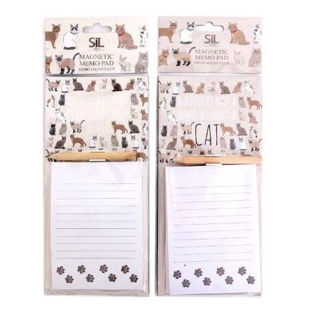27 x 10 cm Cat Pattern Magnetic Memo Pad
