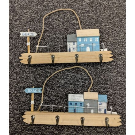34.5 cm Seaside Hanging Plaque with Hooks