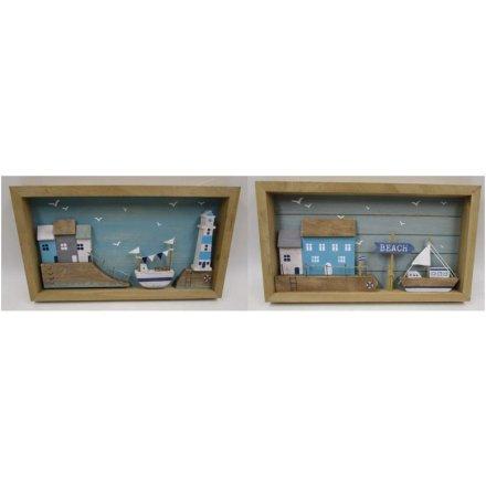 33.5 cm Seaside Box Plaque, 2a