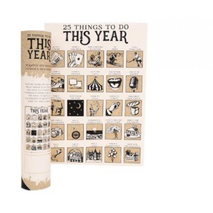 A4 Scratch Poster 25 Things To Do This Year