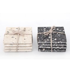 Terrazzo Print Square Coasters   Part of a trending new range these quirky Terrazzo printed coasters will be sure to pla