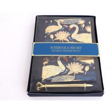 A5 Swan Notebook Gift Set with Pen