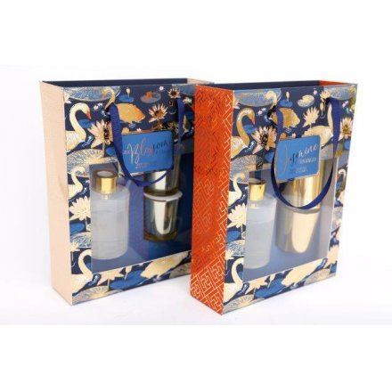 26 x 20 cm Swan Scented Gift Set Diffuser & Candles